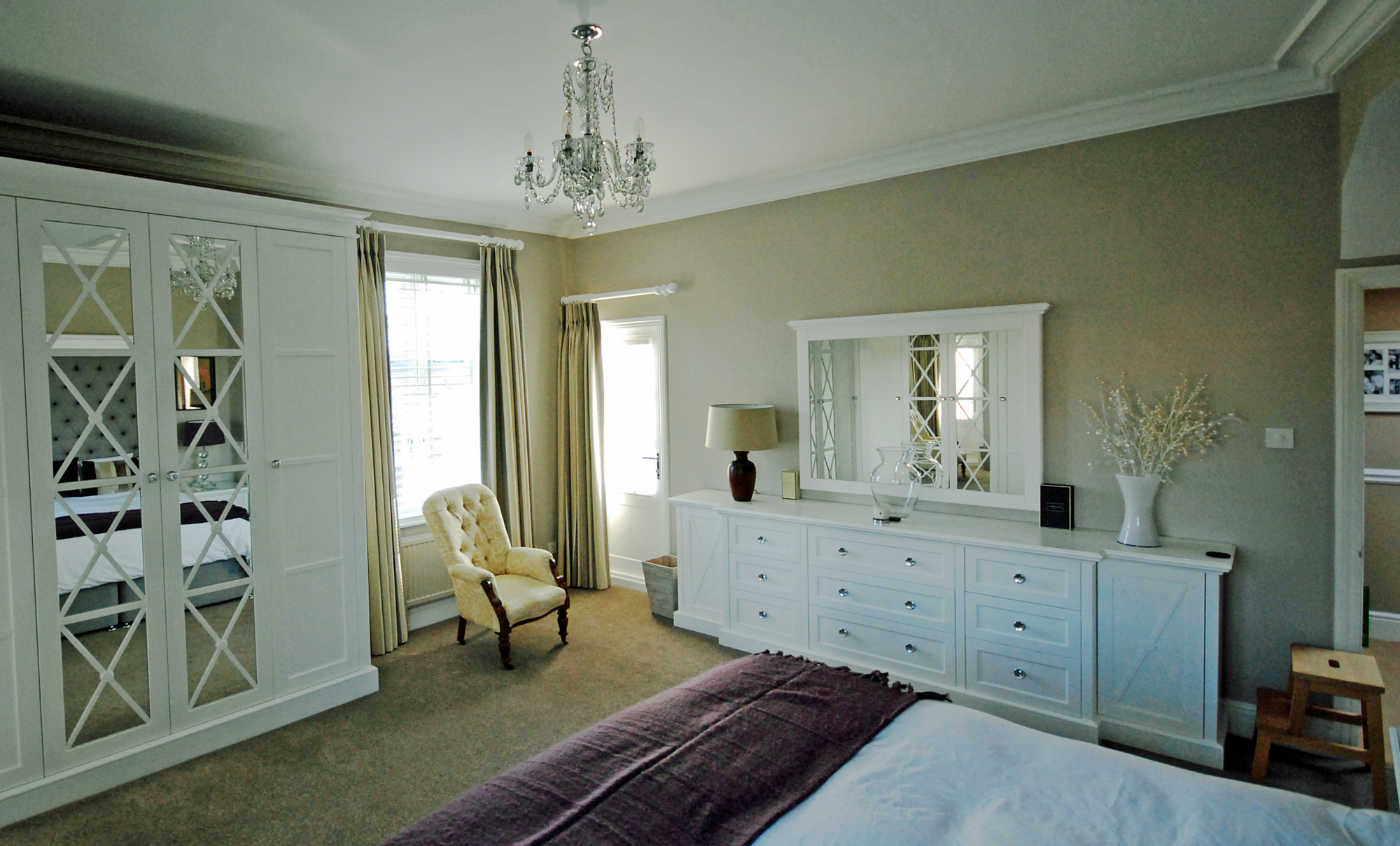 Bedroom with White Furniture